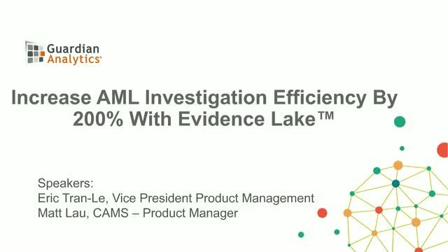 Increase AML Investigation Efficiency by 200% with an AML Evidence Lake™