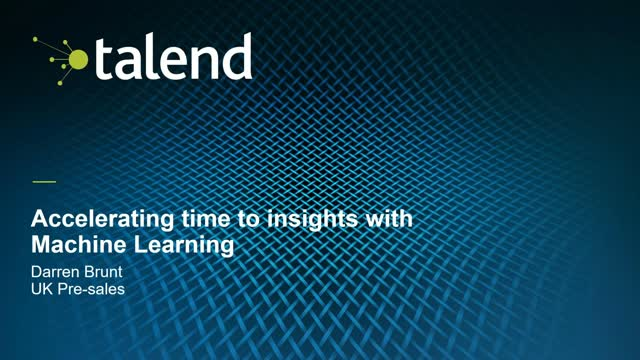 Accelerating Time to Insights with Machine Learning