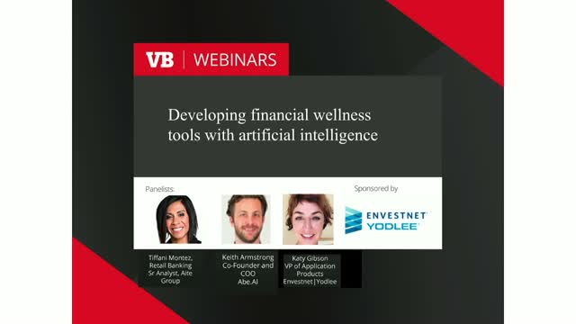 Developing financial wellness tools with artificial intelligence