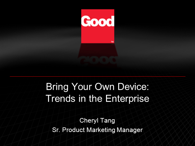 Bring Your Own Device Trends in the Enterprise