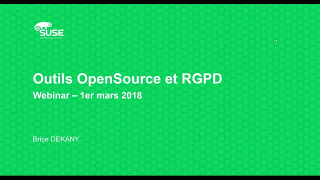 Outils OpenSource et RGPD