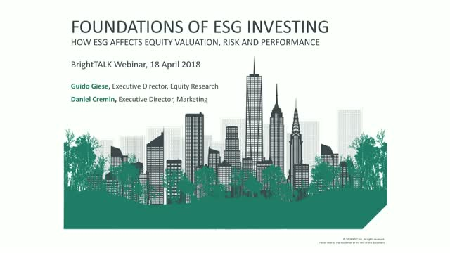 How ESG Affects Equity Valuation, Risk and Performance