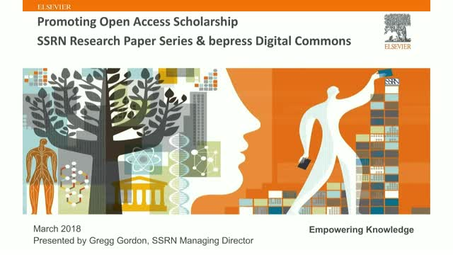 Promoting Open Access Scholarship - SSRN & Bepress Digital Commons