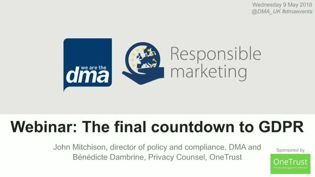 Webinar: The final countdown to GDPR