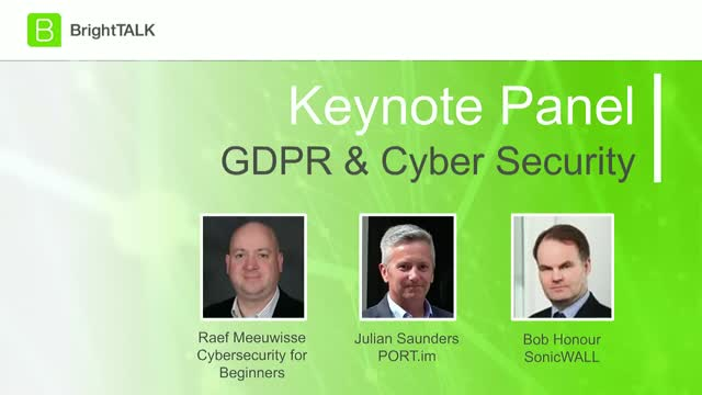 [Panel] GDPR & Cyber Security