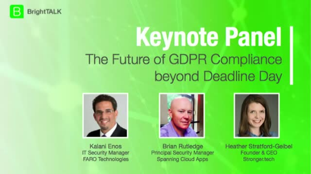 The Future of GDPR: Compliance beyond Deadline Day