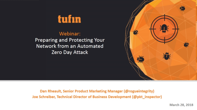 Preparing and Protecting Your Network from an Automated Zero-Day Attack