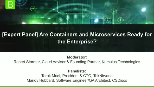 [Expert Panel] Are Containers & Microservices Ready for the Enterprise?