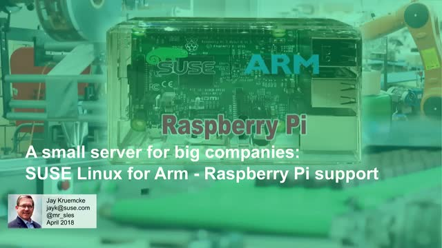 A small server for big companies – New Raspberry Pi support in SLES for ARM