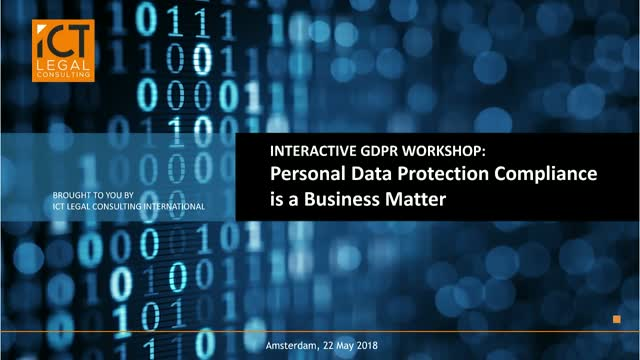 GDPR: Personal Data Protection Compliance is a Business Matter
