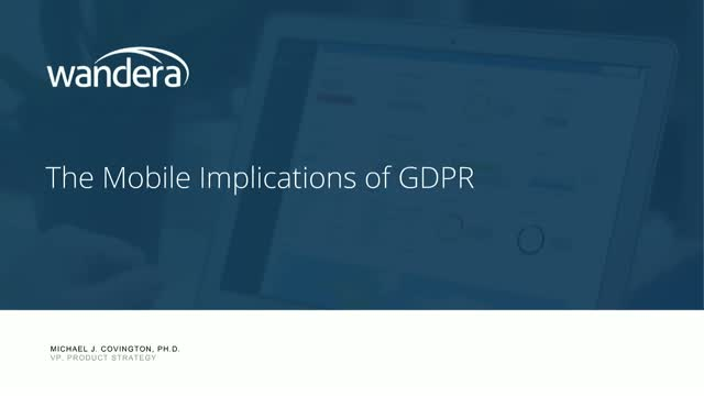 GDPR: But What About Mobile?