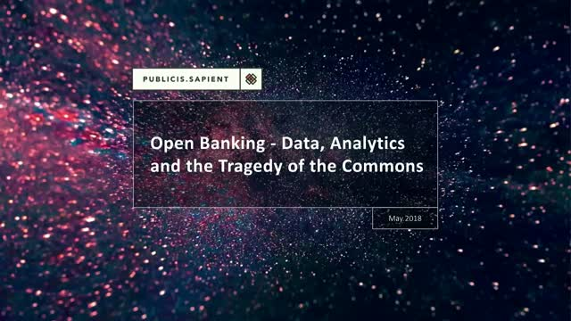 Open Banking - Data, Analytics and the Tragedy of the Commons