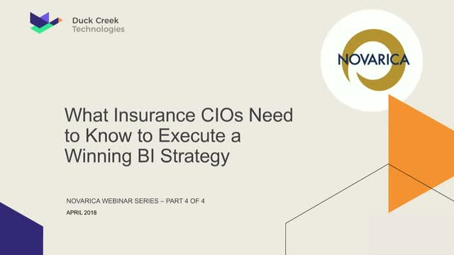 What Insurance Executives Need to Know to Execute a Winning BI Strategy