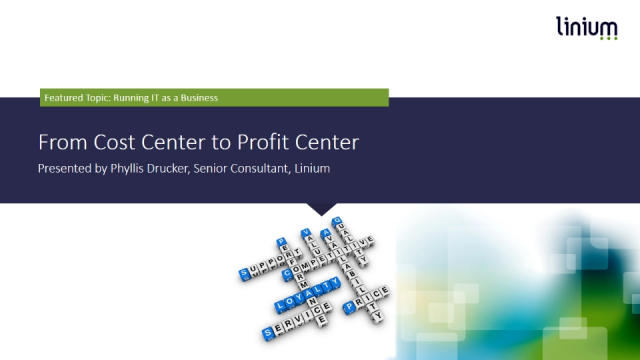 From Cost Center to Profit Center