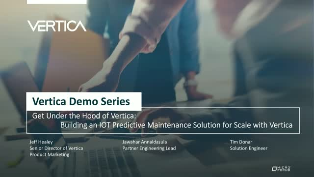 Building an IOT Predictive Maintenance Solution for Scale with Vertica