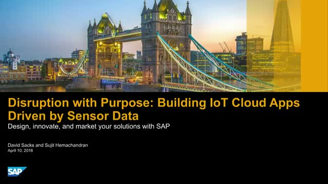 Disruption with Purpose: Building IoT Cloud Apps Driven by Sensor Data