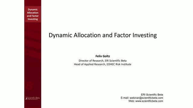 Dynamic allocation and factor investing