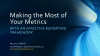 How to Make the Most of your Metrics: an Effective Reporting Framework