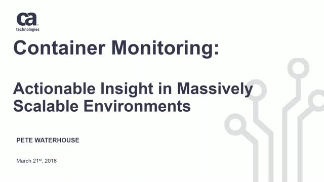 Actionable Insight in Massively Scalable Environments