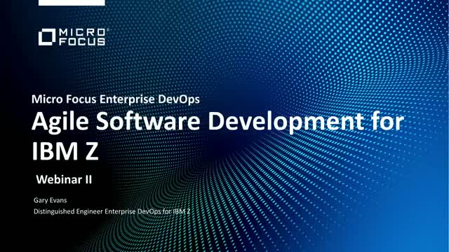 How to implement agile software development for the mainframe. (Part 1)