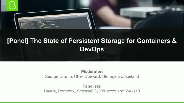 The State of Persistent Storage for Containers & DevOps