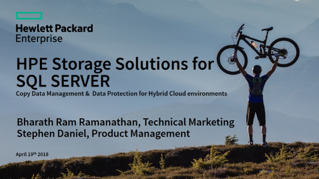 SQL Copy Data Management for Hybrid Cloud