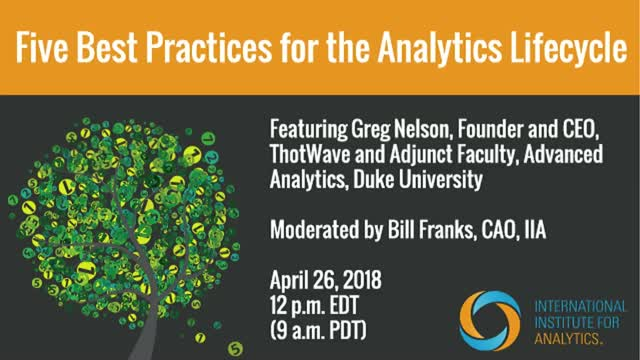 Five Best Practices for the Analytics Lifecycle