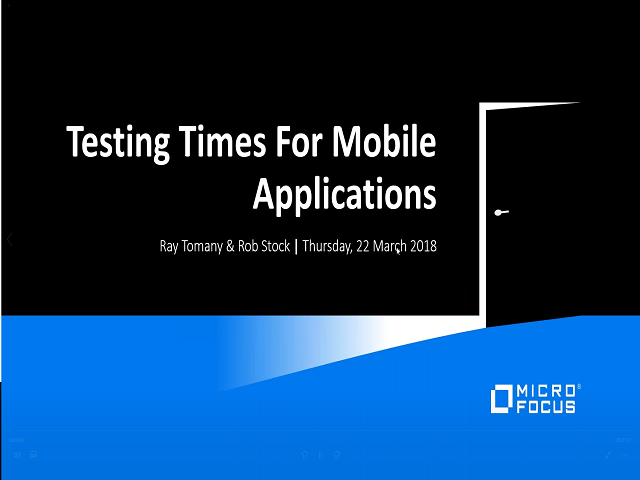 Testing Times for Mobile Applications