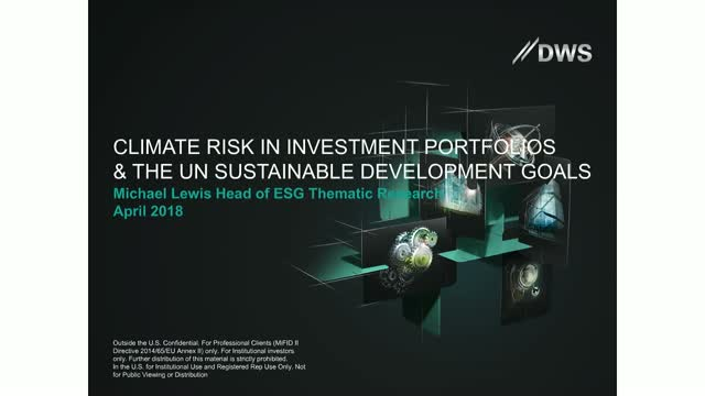 Climate Risk and the Sustainable Development Goals