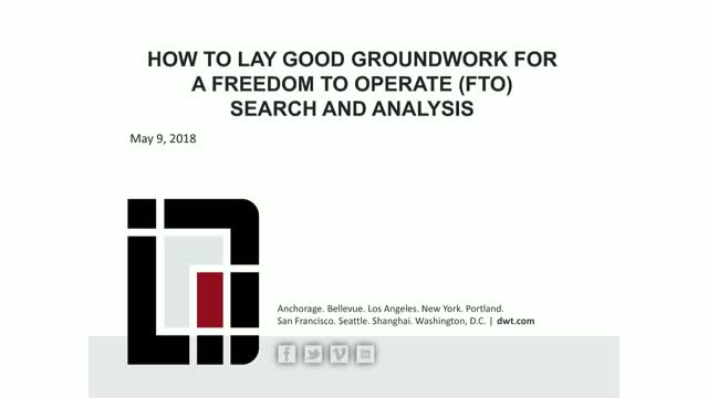 Effective FTO searches: How to lay good groundwork before outsourcing