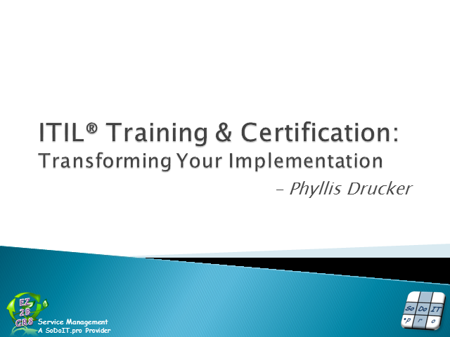 ITIL Training & Certification: Transforming Your Implementation