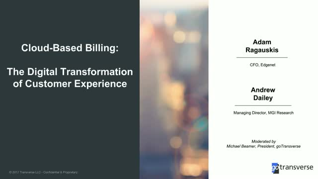 Cloud-Based Billing: The Digital Transformation of Customer Experience