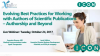 Evolving Best Practices for Working with Authors – Authorship and Beyond