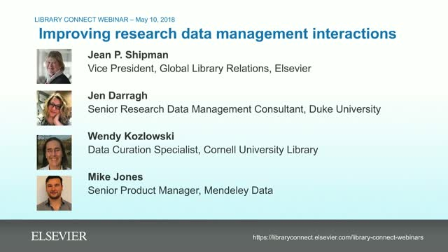 Improving research data management interactions