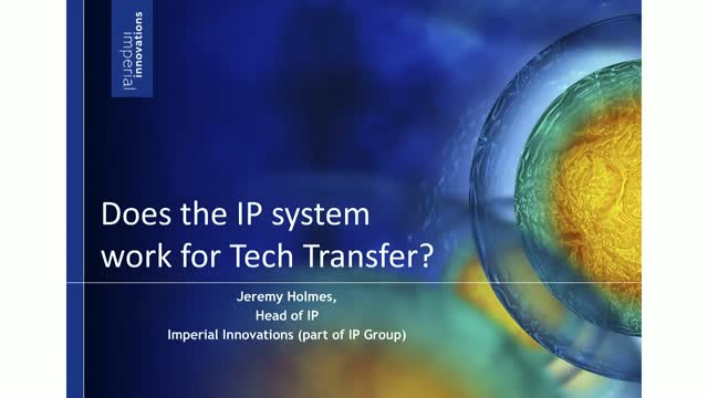 How to make the IP system work for technology transfer