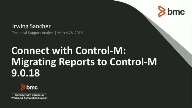 Migrating Reports to Control-M 9.0.18