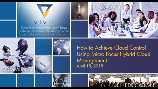 How to Achieve Cloud Control Using Micro Focus Hybrid Cloud Management