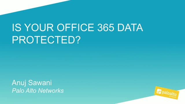 Is your Office 365 data protected?