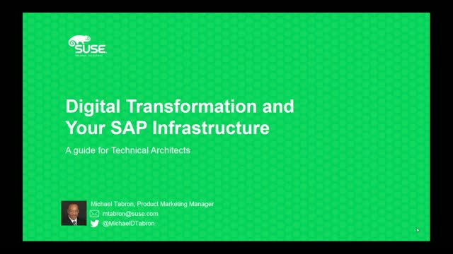 Digital Transformation and Your SAP Infrastructure