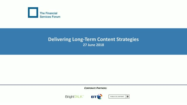 Delivering Long-Term Content Strategies