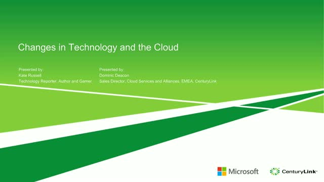 Changes in Technology and the Cloud