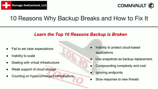 10 Reasons Why Backup Breaks and How to Fix It