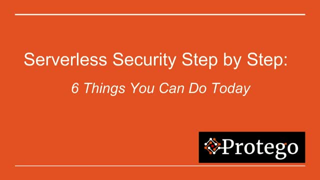 Serverless Security Step by Step
