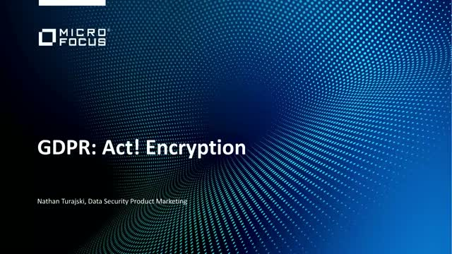 GDPR: Encryption - How do I best ensure sensitive data is protected?