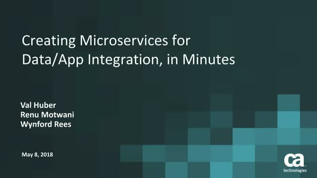 Creating Microservices for data and app integration, in minutes
