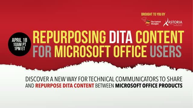 Repurposing DITA Content for Microsoft Office Users