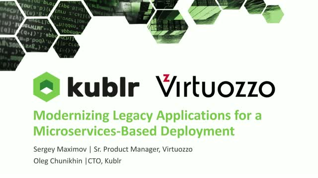 How to Modernize Legacy Applications for a Microservices-Based Deployment