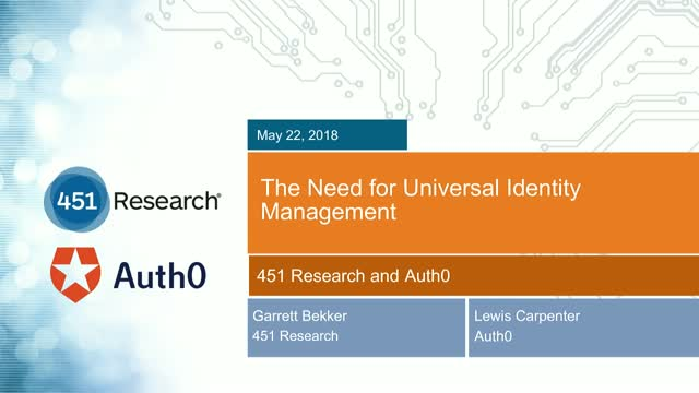 The Need for Universal Identity Management