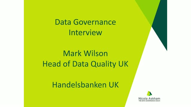 Data Governance Interview