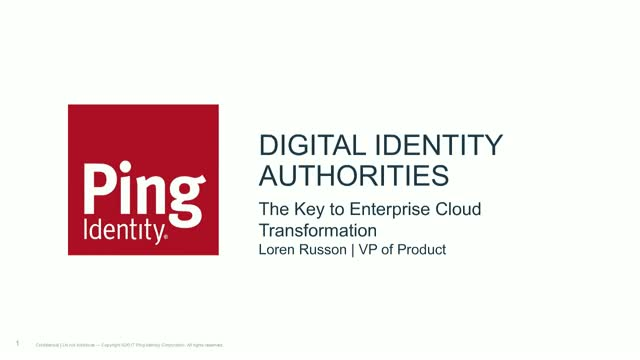 Digital Identity Authorities - The Key to Enterprise Cloud Transformation